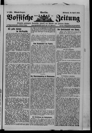 Vossische Zeitung vom 16.04.1913