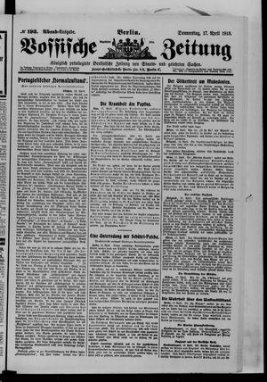 Vossische Zeitung vom 17.04.1913