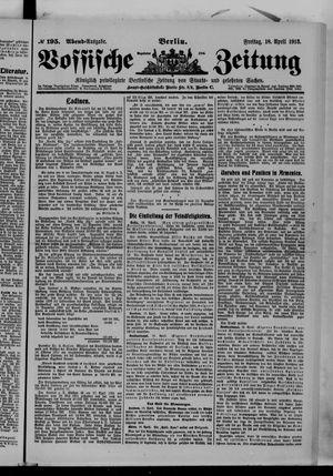 Vossische Zeitung vom 18.04.1913