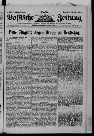 Vossische Zeitung vom 19.04.1913