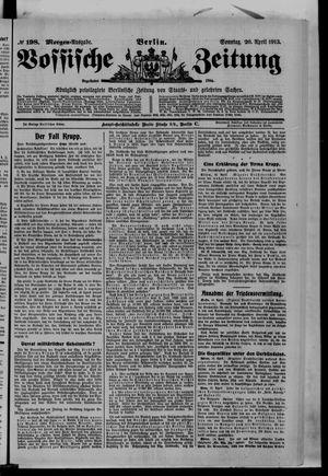 Vossische Zeitung vom 20.04.1913