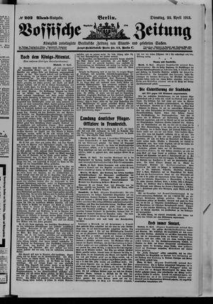 Vossische Zeitung vom 22.04.1913
