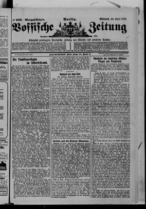 Vossische Zeitung on Apr 23, 1913