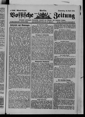Vossische Zeitung vom 24.04.1913