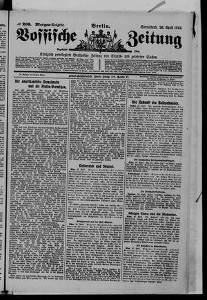 Vossische Zeitung vom 26.04.1913