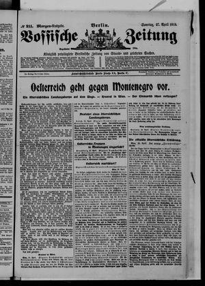 Vossische Zeitung vom 27.04.1913