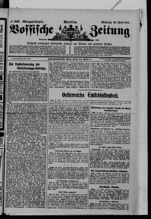 Vossische Zeitung vom 30.04.1913