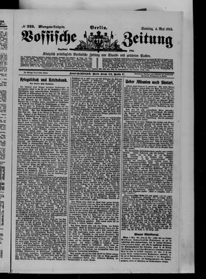 Vossische Zeitung vom 04.05.1913