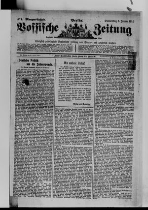 Vossische Zeitung vom 01.01.1914