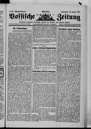 Vossische Zeitung vom 10.01.1914