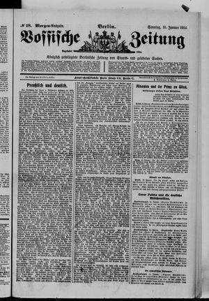 Vossische Zeitung vom 11.01.1914
