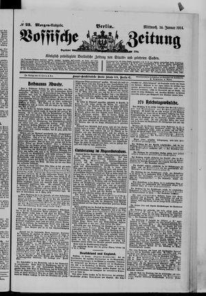 Vossische Zeitung on Jan 14, 1914