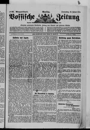 Vossische Zeitung vom 15.01.1914