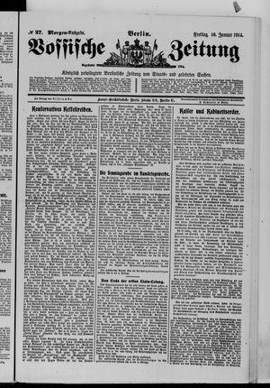 Vossische Zeitung vom 16.01.1914