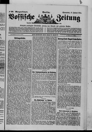 Vossische Zeitung vom 17.01.1914
