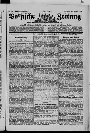 Vossische Zeitung vom 18.01.1914