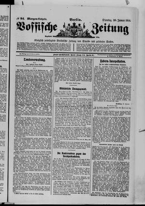 Vossische Zeitung vom 20.01.1914