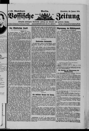Vossische Zeitung vom 24.01.1914