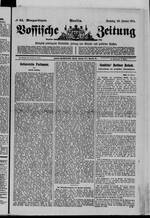 Vossische Zeitung vom 25.01.1914