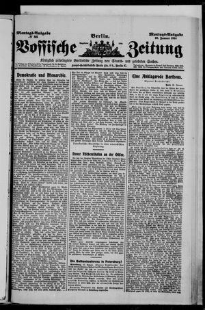 Vossische Zeitung vom 26.01.1914