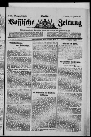 Vossische Zeitung vom 27.01.1914