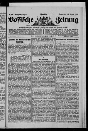 Vossische Zeitung on Jan 29, 1914