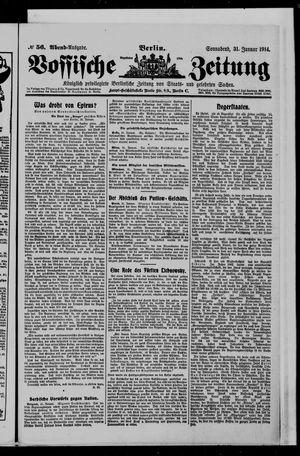 Vossische Zeitung vom 31.01.1914
