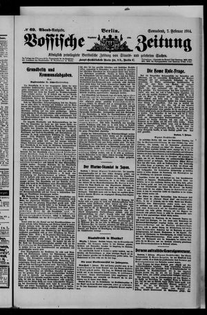 Vossische Zeitung vom 07.02.1914