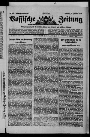 Vossische Zeitung vom 08.02.1914