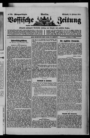 Vossische Zeitung vom 11.02.1914