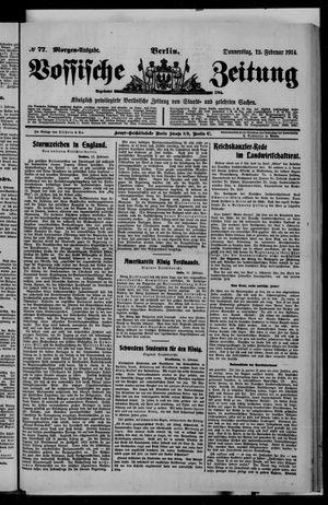Vossische Zeitung vom 12.02.1914