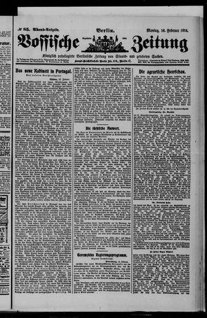 Vossische Zeitung on Feb 16, 1914