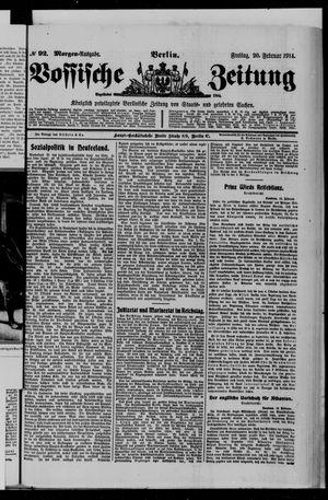 Vossische Zeitung vom 20.02.1914
