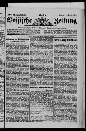 Vossische Zeitung vom 22.02.1914