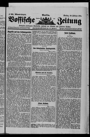 Vossische Zeitung vom 23.02.1914