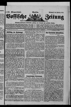 Vossische Zeitung vom 25.02.1914