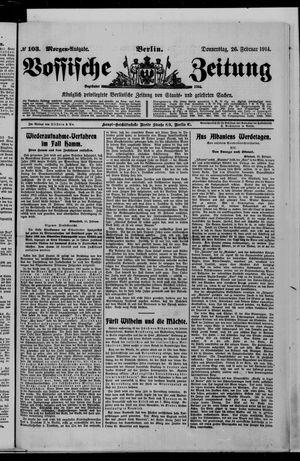 Vossische Zeitung vom 26.02.1914