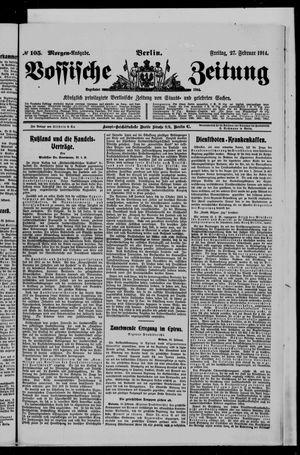 Vossische Zeitung vom 27.02.1914