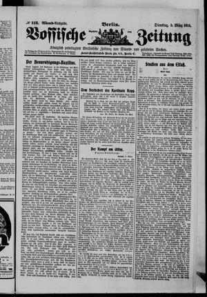 Vossische Zeitung vom 03.03.1914