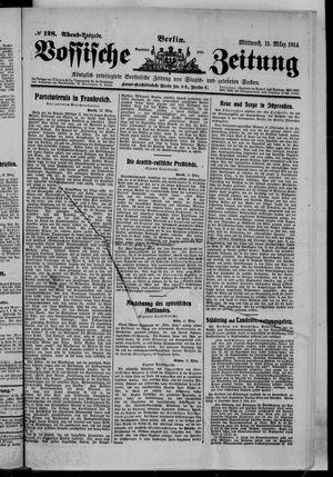 Vossische Zeitung vom 11.03.1914