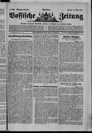 Vossische Zeitung vom 13.03.1914