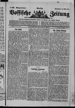 Vossische Zeitung vom 14.03.1914