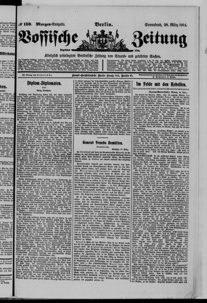Vossische Zeitung vom 28.03.1914