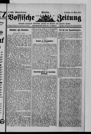 Vossische Zeitung vom 31.03.1914