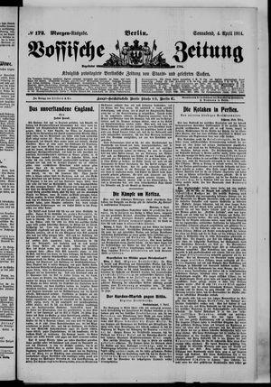 Vossische Zeitung vom 04.04.1914