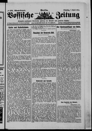 Vossische Zeitung vom 07.04.1914