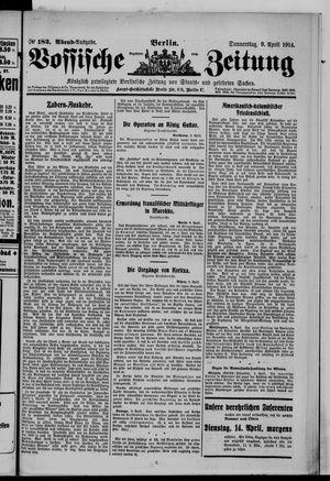 Vossische Zeitung on Apr 9, 1914