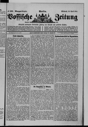 Vossische Zeitung vom 15.04.1914