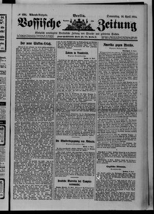 Vossische Zeitung vom 16.04.1914