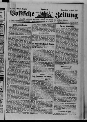 Vossische Zeitung vom 18.04.1914